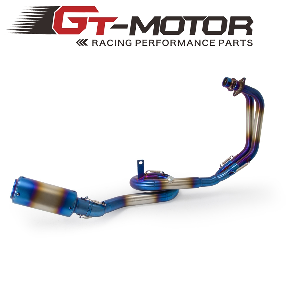 Motorcycle Full Exhaust System Header Loop Blue Pipe For YAMAHA R3 YZF R3 R25 2014 2018 MT03 2016 2018 SLIP ON with Muffler|Exhaust & Exhaust Systems| |  - title=