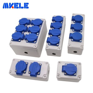 Image 4 - Plastic Universal Waterproof Socket Box Household Socket Junction Box Outdoor Rainproof  Box With Cable Glands Wire Connectors