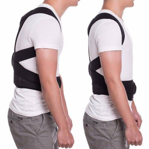 Neoprene Posture Corrector Bad Back Lumbar Shoulder Support Magnetic Brace Belt Shapers