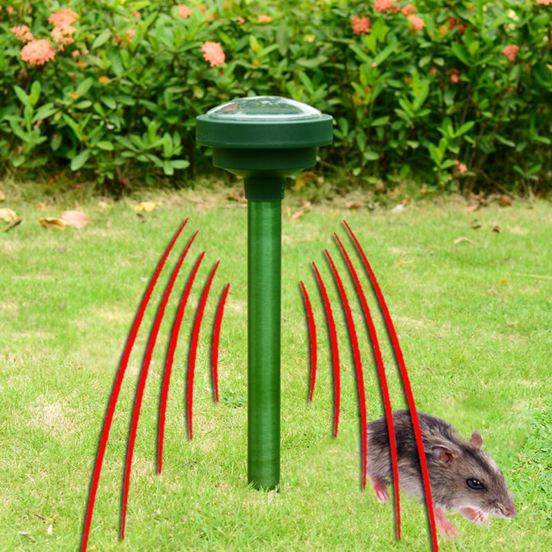 2 pièces solaire ultrasons Animal serpent Rat rongeur chiens chat répulsif Vibration réglable antiparasitaire jardin fournitures domestiques