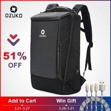 527cc705d171e OZUKO männer 17 Zoll Laptop Rucksack Große Kapazität Wasserdichte Rucksäcke  für Männer Männlichen USB Business Zurück