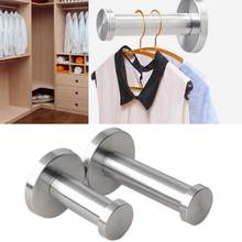 50mm/70mm Length Stainless Steel Clothes Hanger Wall Mounted Coat Hook Decorative Key Holder Hat Scarf Handbag Storage Hanging(China)