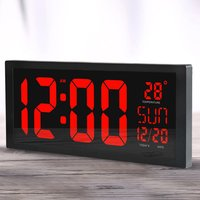 HD LED Electronic Wall Clock Home Living Room Desktop Calendar Clock Large Screen LED Electronic Clock