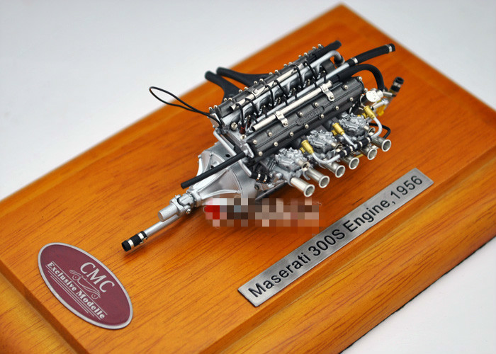 CMC 1/18 Scale Model 1956 Maserati 300S Wooden Base Engine Model Alloy Toys Hobbies Collectible Gifts Free Shipping EMS