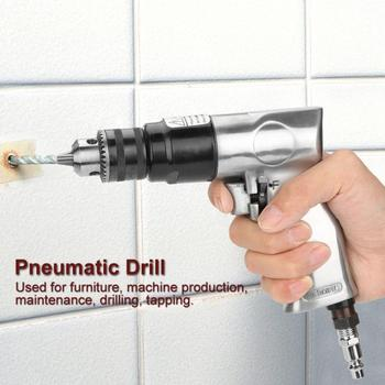 цены 3/8 inch Air Drill 1700rpm High-speed Pneumatic Drill Reversible Rotation Air Drill for Hole Drilling Power Tool