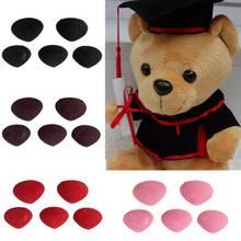 5 шт Пластиковые Треугольные вельветовые носы, кнопки, глаза DIY для медведя, аксессуары для игрушечной куклы, игрушки