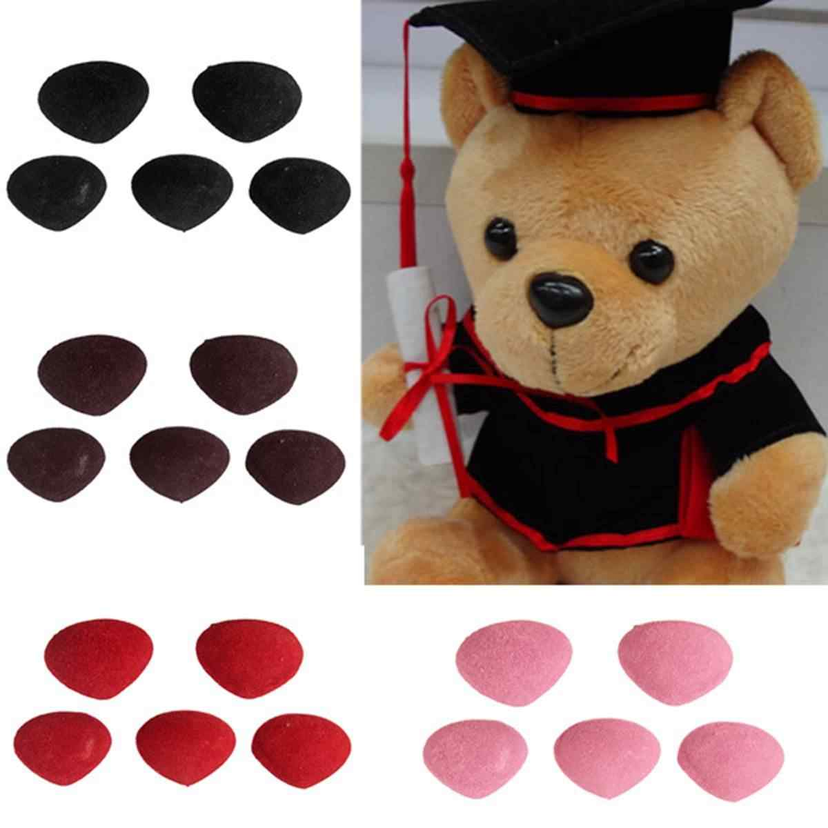 5Pcs Plastic Triangle Velvets Noses Buttons Eyes DIY For Bear Toy Doll Accessories Toys