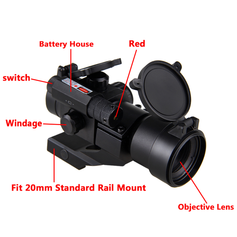 5 8 quot Optical Rifle Scope Sighting Telescope Hunting Laser Gun Sight Reflex Real Fiber Optics Red Green Dot Scope Picatinny Rail in Riflescopes from Sports amp Entertainment