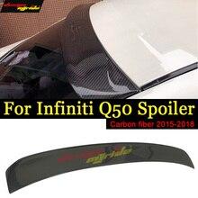 For Infiniti Q50 Q50S Rear Roof Window Spoiler Carbon Fiber 4-Door 2015-17 Q50 Auto Racing Car Tail Lip Wing Spoiler Decoration