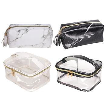 5485aa77eec9 Органайзер для косметики сумка Мрамор ПВХ Ясный Прозрачный ...