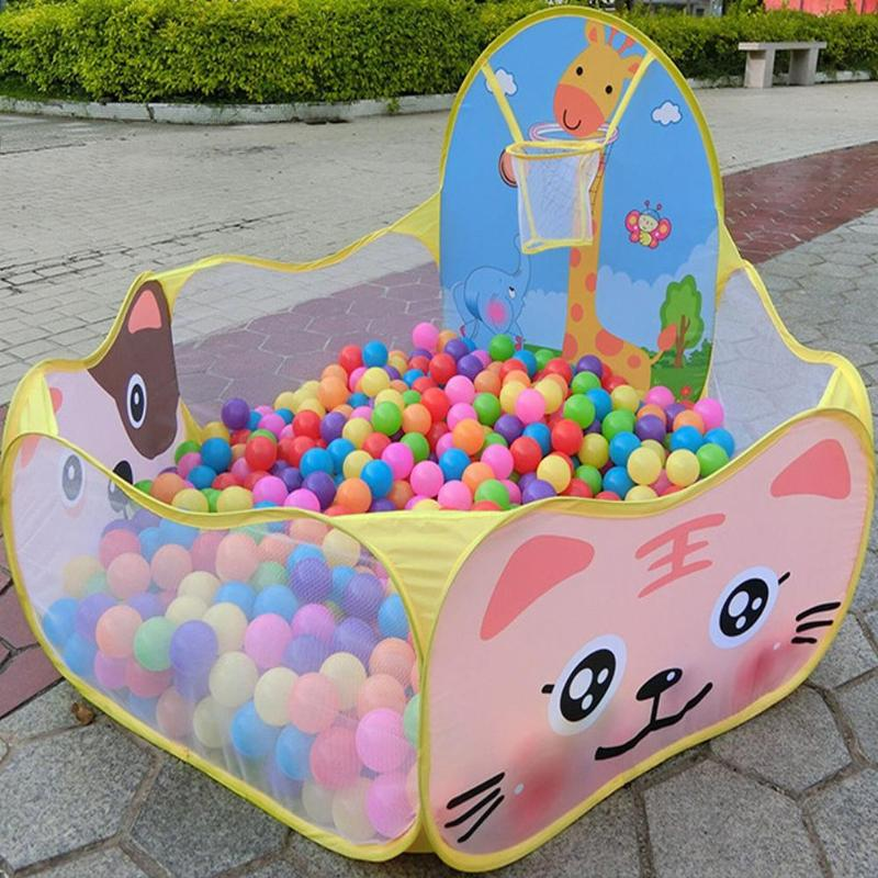 Kids Tent Baby Boys Girls Ocean Ball With Basketball Pit