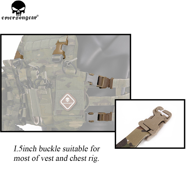 emersongear Chest Rig to Vest Adapter Kit Webbing for Molle Vest Chest Rig Emerson Adapter Hunting Vest Accessories Multicam 5
