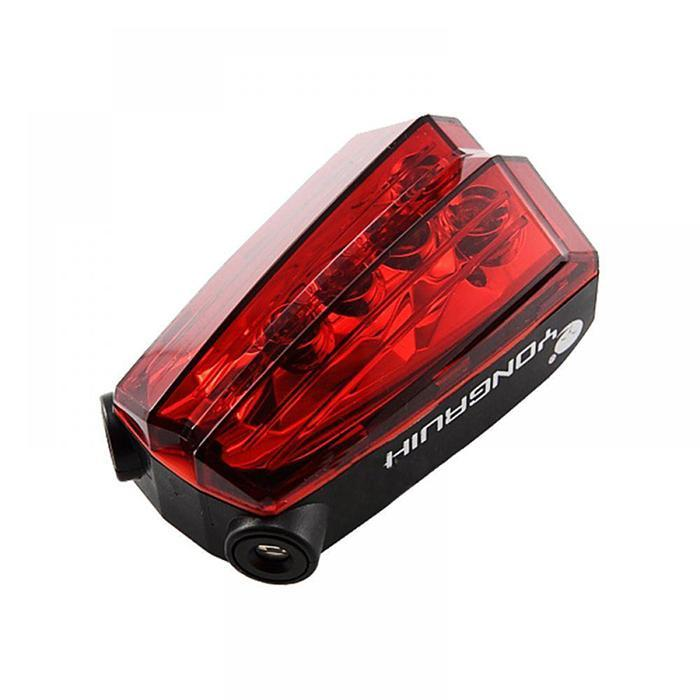 Bicycle Back Laser Tail Light MTB Mountain Bike Rear Light Cycling Safety Signals Flash Taillight Lamp Outdoor Accessories in Bicycle Light from Sports Entertainment