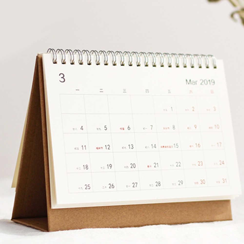 Creative Menu-style Paper 2019 Schedule Desk Calendar Weekly Planner Memo School Office Stationery Calendars, Planners & Cards Calendar