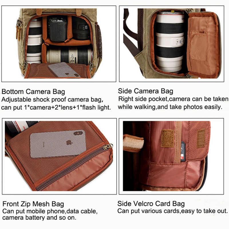 Сумка для камеры батик холст водонепроницаемая сумка для фотокамеры наружные износостойкие большие фотообъективы для камеры рюкзак для Canon/sony/Nikon