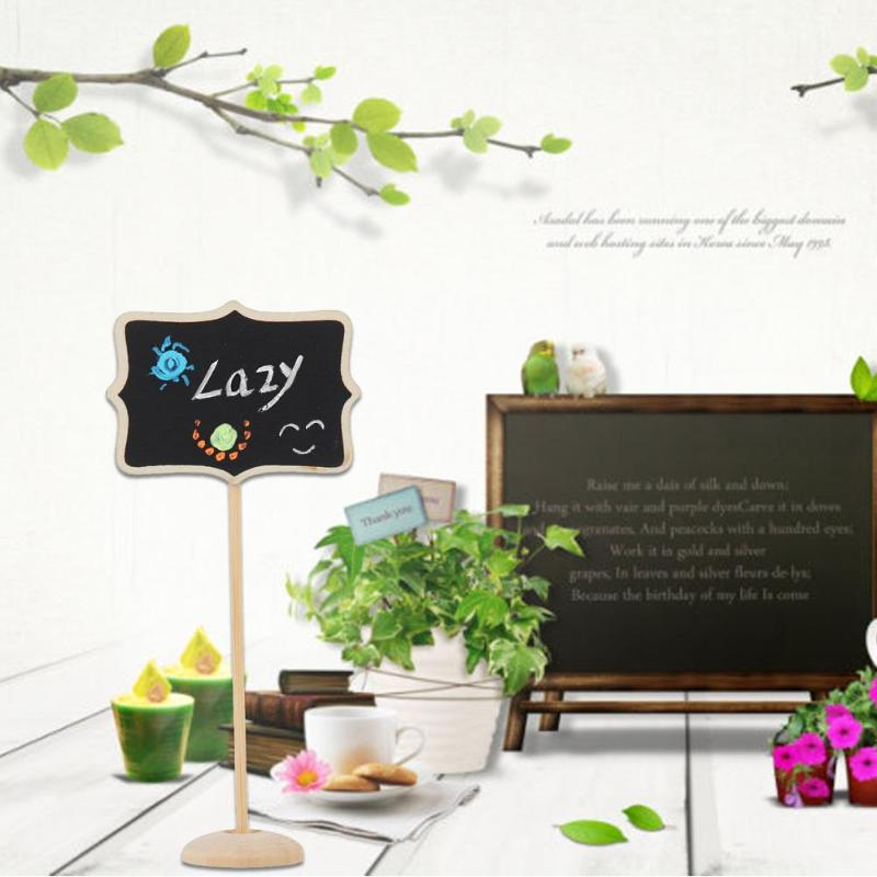 10pcs Mini Retangle Chalkboard Blackboard Stand Place Holder Wedding Event Party Decorations Lolly Party Tag Dropshipping