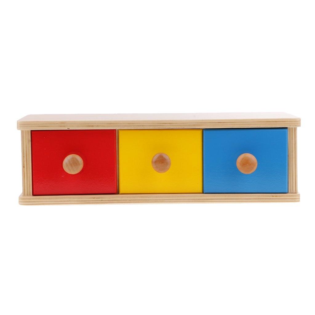 Montessori développement sensoriel caisse en bois tiroirs balles Coordination œil-main apprentissage précoce jouets éducatifs pour enfants enfants