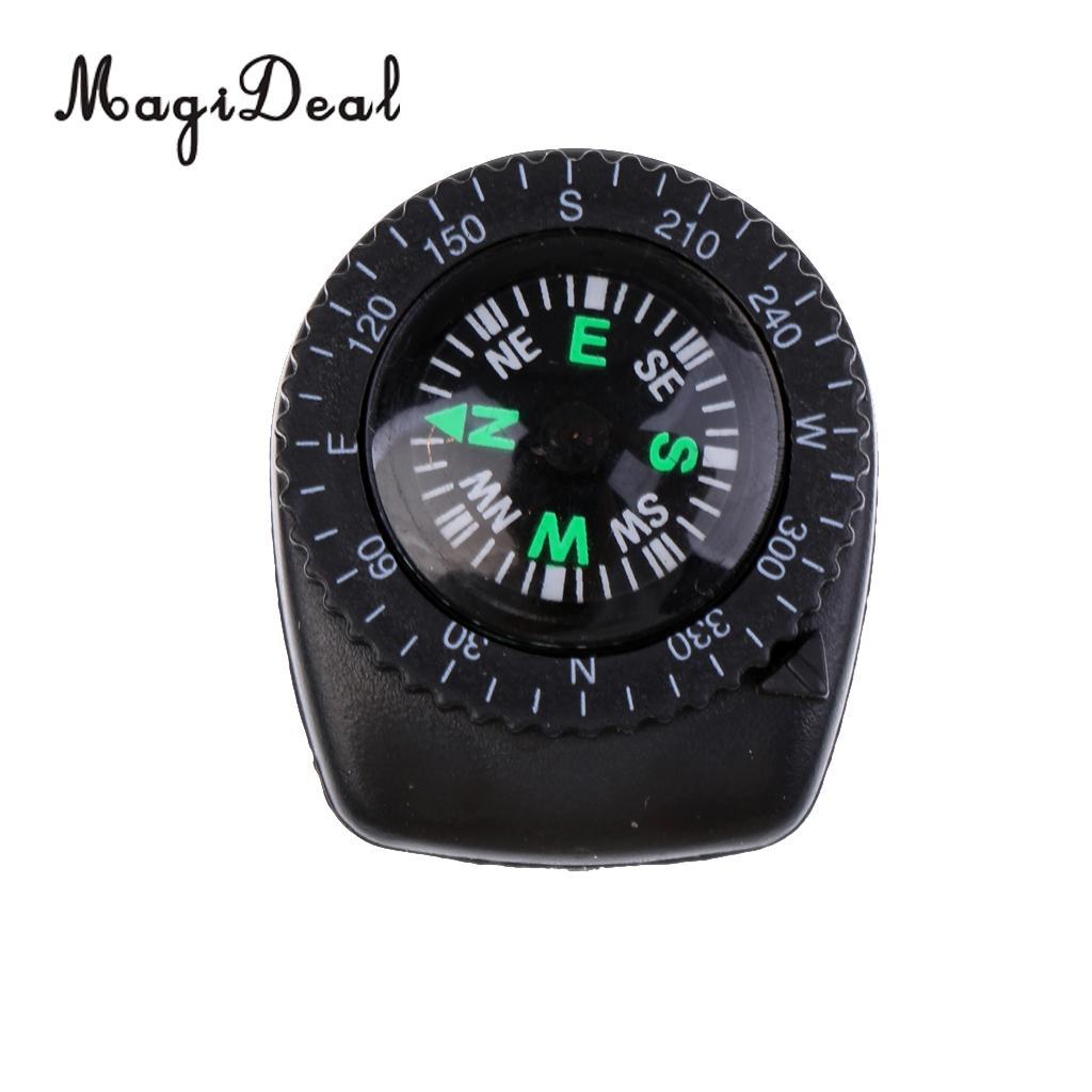 MagiDeal 25 мм Мини точный ремешок для часов с клипсой для навигации, наручные Компас для выживания, кемпинга, туризма, навигации, аксессуары
