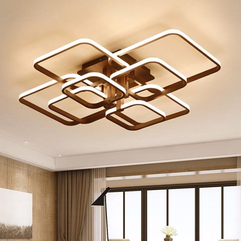Touch Fernbenung Dimmen Moderne Plafon Led Decke Lampe Leuchte Aluminium Esszimmer Wohnzimmer Schlafzimmer Lichter Glanz Lamparas De Techo In