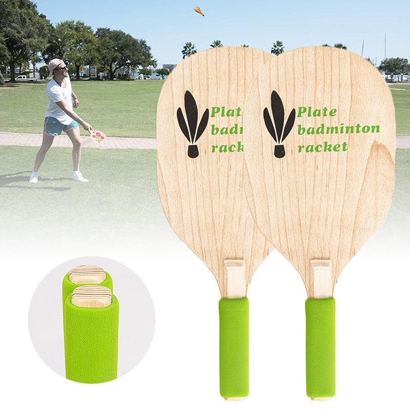 Beach Male Tennis Racket Paddle Ball Game Badminton Pingpong Beach Cricket Wood Racket Paddles Outdoor Racquet For Adults Kids