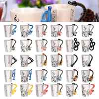 Kreative Musik Violine Gitarre Keramik Becher Kaffee Tee Milch Stab Tassen mit Griff Kaffee Becher Neuheit Geschenke für Hochzeit Geburtstag