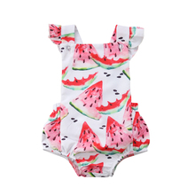 Lovely Toddler Baby Infant Kids Girls Sleeveless Romper Tops Jumpsuit Summer Infant Clothes baby kids summer outfits infant toddler baby kids unicorn romper toddler girls rainbow with unicorn bubble romper clothing