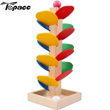 2pcs Colorful Wooden Spiral Ball Game Tree Leaves Tower Build Toy Educational Slide Puzzle Toys For Children kid Toy Gift Puzzle fenglaiyi diy tetris puzzle retro style game tower baby colorful brick creative puzzle led night light children gift lamp