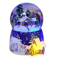 Decoration Accessories Mechanism Muziekdoosje Gift Note Snow Globe Boite A Musique Carousel De Musica Caja Musical Music Box