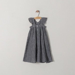 Image 5 - cotton linen ruffles korean kids clothes big children dresses girls new 2019 summer baby girls Teens dress stripe party frocks