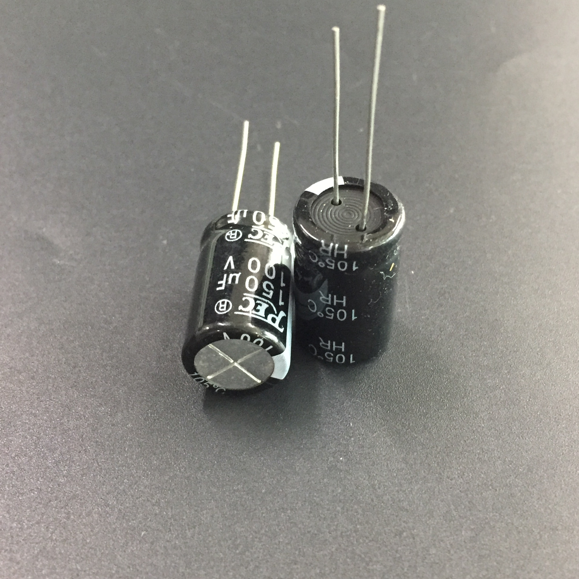 5pcs/50pcs <font><b>150uF</b></font> <font><b>100V</b></font> REC HR 12.5x20mm 100V150uF Good quality Aluminum Electrolytic Capacitor image