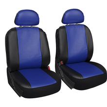 2 X Front Car Seat Covers Fashion Style High Back Bucket PU Cover Auto Interior Protector