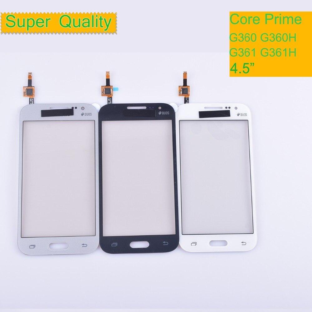10Pcs/lot For Samsung Galaxy Core Prime G360 G360H G361 G361F G361H Touch Screen Panel Sensor Digitizer Front Glass Touchscreen
