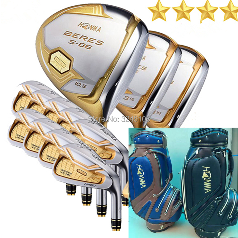 Clubs de Golf Ensemble Complet Honma Bere S-06 4 star club de golf ensembles Pilote + Fairway + fer + putter De Golf (14 pièce) + sac de Golf