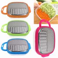 1pc Cheese Food Vegetable Carrot Grater Slicer Shredder With Container Kitchen Tool