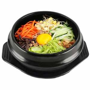 Stone-Pot Bowls Ramen Ceramic Korean for Bibimbap Soup Rice Big Sized 16cm Cuisine-Sets