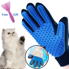 Перчатка для ухода за животными, перчатка для кошек, собачья шерсть, щетка, гребень Guante Para Gatos Perros Gant Pour Chat Chiens, инструменты для чистки домашних животных