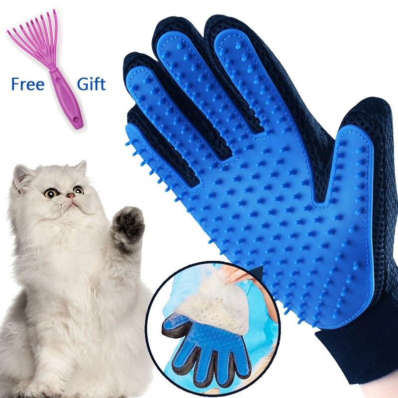 Gant de toilettage Pour animaux de compagnie Pour chats Chiens brosse à cheveux peigne Guante Para Gatos Perros Gant Pour Chat Chiens outils propres Pour animaux de compagnie