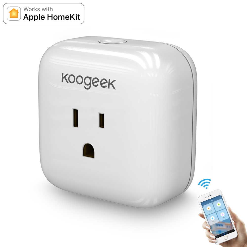 Koogeek Wi-Fi Thông Minh Cắm Hỗ Trợ cho Alexa HomeKit cho Google Trợ Lý Điều Khiển Bằng Giọng Nói Hẹn Giờ cắm điều khiển Thông Minh cho CHÚNG TÔI CA