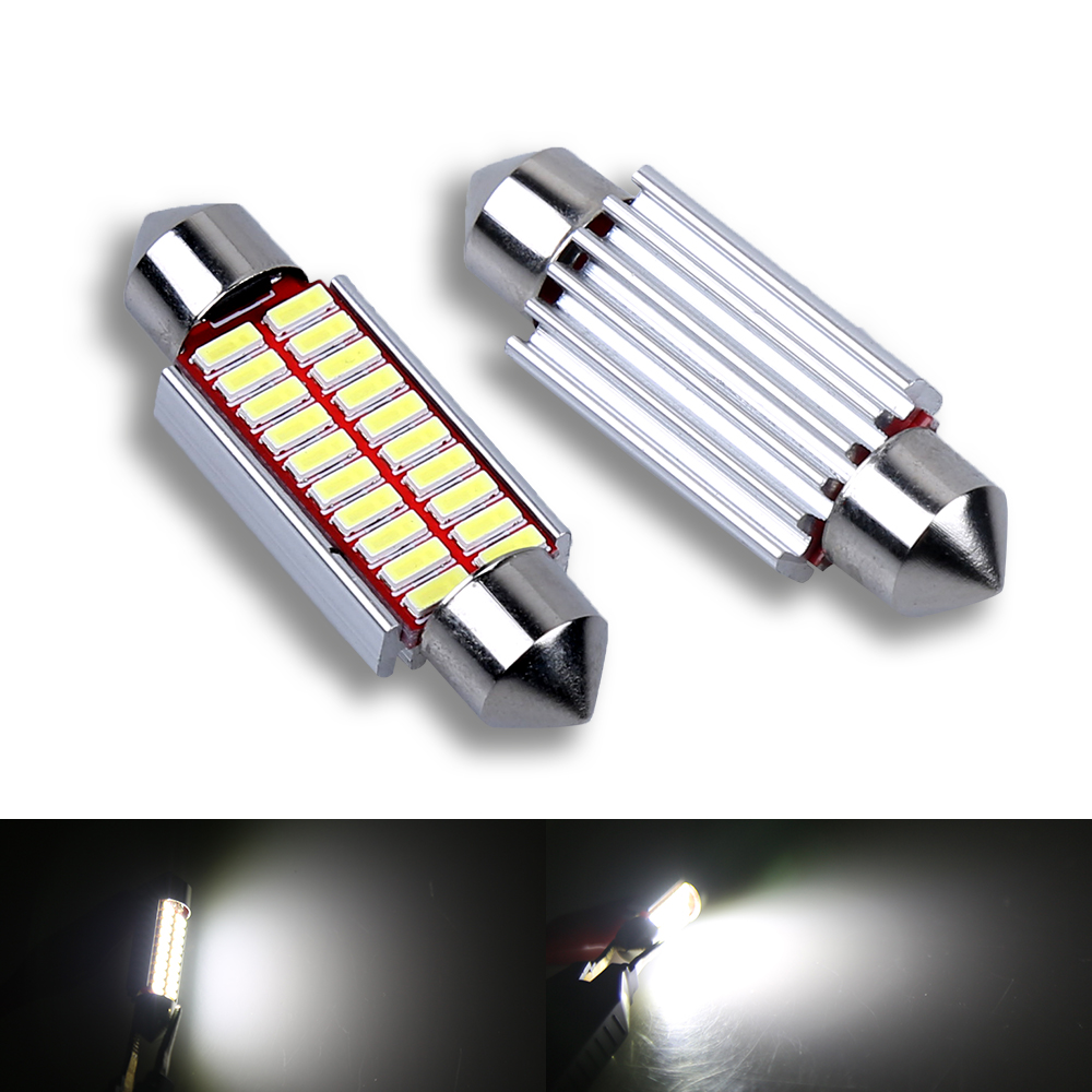 e568aa0b5cb 1X Car Festoon 31mm 36mm 39mm 41mm LED Bulb C5W C10W 4014 SMD Canbus Error  Free