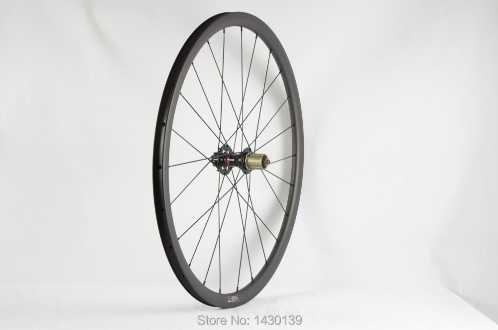 Image 5 - Newest 700C 30mm Road bike matt UD full carbon fibre bicycle wheelset carbon clincher rims 791 792 disc brake hubs Free shippingBicycle Wheel   -
