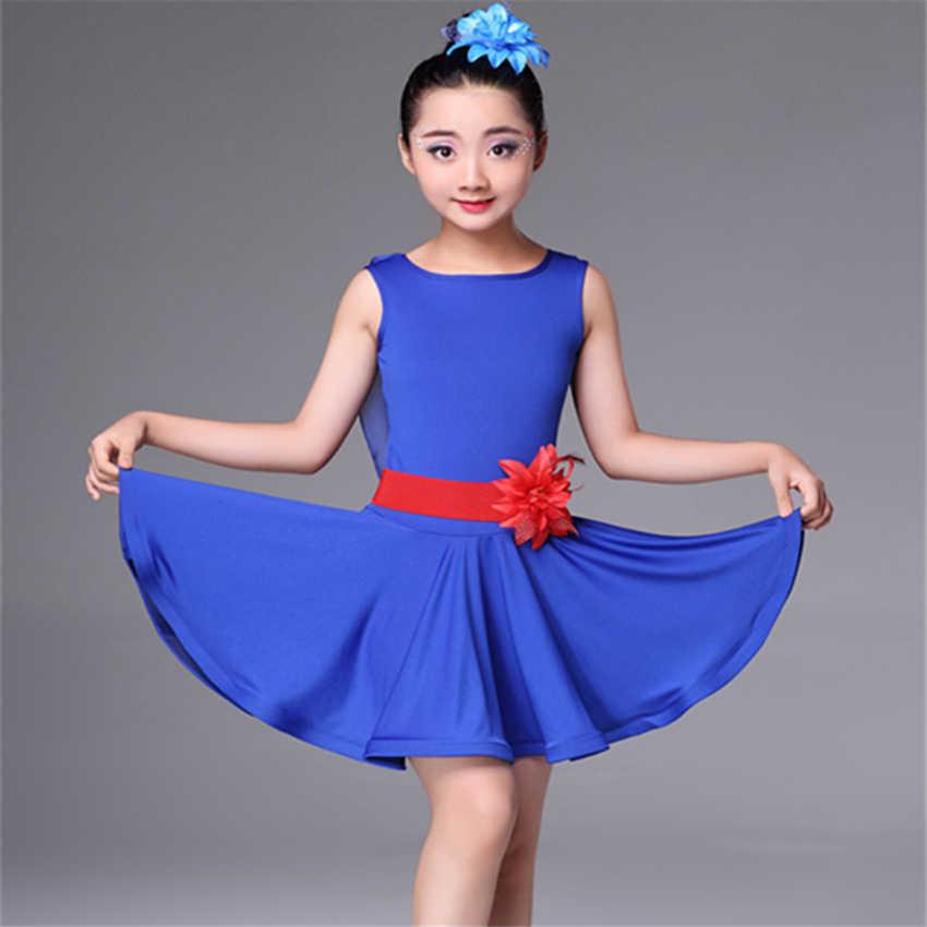 8e609fbd3 ... 2019 Girls Latin Tango Rumba Dance Dress Kids Backless Performance  Dresses Ballroom Practice Cha Cha Dance ...