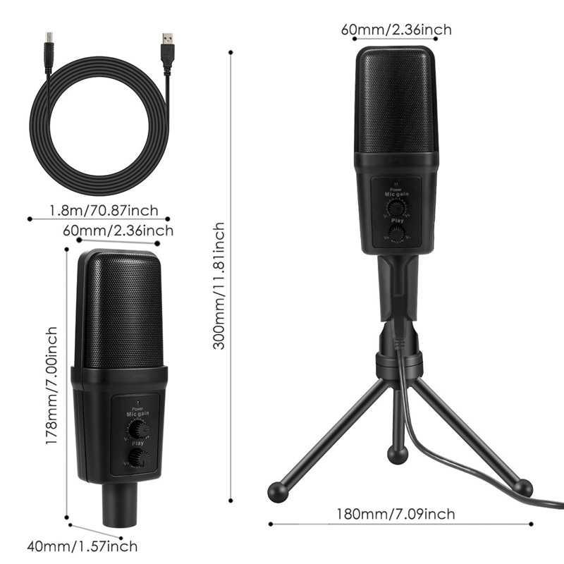 SF-970 проводной микрофон USB конденсатор звук Запись микрофон с подставкой для чат пение караоке ноутбук Skype