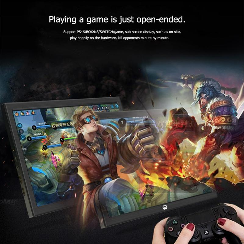 ALLOYSEED Game LCD Monitors 10 1 Inch Mini 2K Portable Monitor HDMI Input 2650x1600 IPS Screen Display for PS4 Xbox N Switch in LCD Monitors from Computer Office