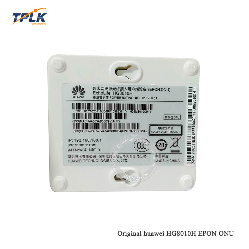Free shipping Used 10pcs HW HG8010H 1GE EPON ONU with to FTTH mode SC/UPC English Firmware with/without US adapter to Peru