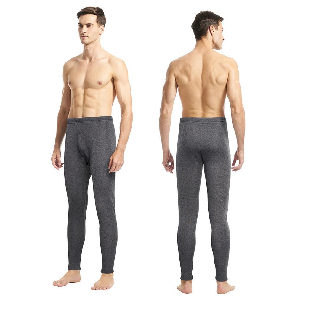 Men Casual Solid Thick Slim Fit Pants Long Johns Thermal Suit for: 180-185cm, 80-90kg Trousers Warm Leggings