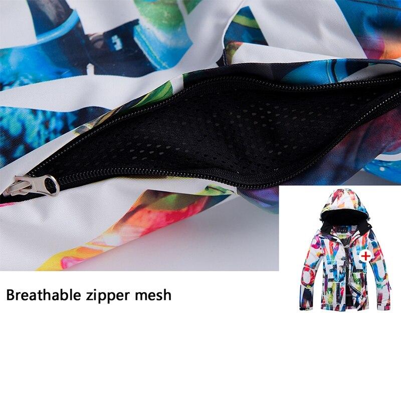 LGFM-ARCTIC reine Ski vestes femmes snowboard veste femme hiver Sportswear neige Ski veste respirant imperméable vent - 6