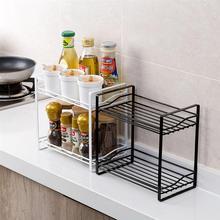 OUNONA стеллаж для хранения приправ, двухслойные банки для специй, кухонный держатель для хранения, многофункциональная полка для хранения в ванной