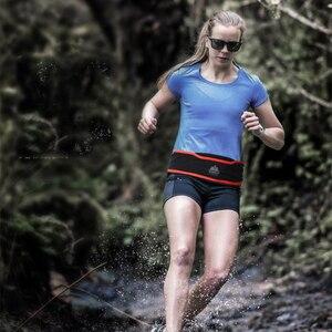 Image 5 - Aonijie bolsa para correr de nailon, bolsa de cintura transpirable, ultraligera, portátil, elástica, espera, 1 ud., botella de agua de 250ml