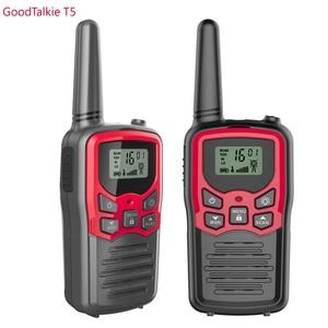 Image 1 - 2pcs GOODTALKIE T5 Walkie Talkie di Frequenza UHF Portatile A Due Vie Radio di Prosciutto Custom Walkie Talkie Caso