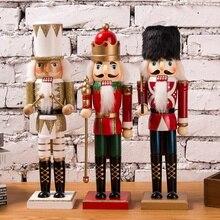 35 см винтажная ручная кукольная деревянная кукла Щелкунчик домашние декоративные украшения на вечеринку рождественские подарки
